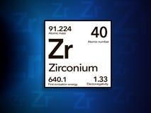 De Periodieke Lijst van zirconiumzr royalty-vrije stock foto