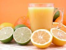 De pers van de citrusvrucht Stock Foto's