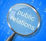 De Persmededeling en de Vergroting van public relationsmiddelen stock illustratie