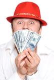 De persoon en het geld royalty-vrije stock afbeeldingen