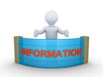 De persoon geeft informatie Royalty-vrije Stock Foto's