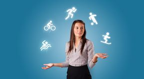 De persoon jongleert met met hobbysconcept royalty-vrije stock foto