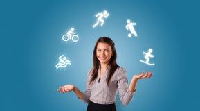 De persoon jongleert met met hobbysconcept stock foto's