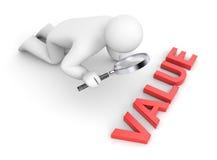 De persoon onderzoekt waarde vector illustratie