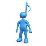 De Persoon van de muziek Stock Fotografie