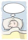 De persoon van de slaap Stock Foto