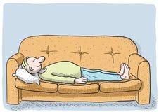 De persoon van de slaap Stock Afbeelding