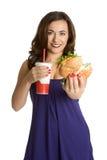 De Persoon van het snelle Voedsel royalty-vrije stock afbeelding