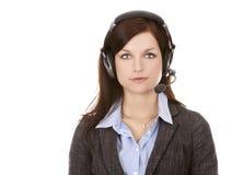 De persoon van het telemarketing Stock Fotografie