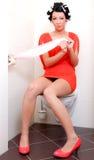 De persoon van het toilet Stock Foto's
