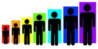 De persoonlijke groei vector illustratie