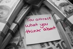 De persoonlijke Ontwikkeling voor brengt Meer Geld in Uw Leven royalty-vrije stock foto