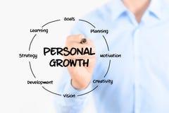 De persoonlijke structuur van het de groeidiagram royalty-vrije stock afbeeldingen