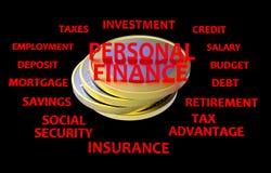 De persoonlijke zwarte financiën en het rood geven terug royalty-vrije illustratie
