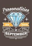 De persoonlijkheden zijn Geboren in September Royalty-vrije Stock Fotografie