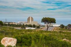 De perspectiefmening van de kernenergie plant a in Vandellos Royalty-vrije Stock Afbeeldingen