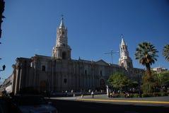 De Peruviaanse stad van Arequipa stock afbeelding