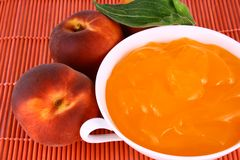 De perzik van de gelei Stock Foto