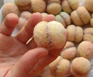 De perzikspecialiteit van cakes in Kroatië - neem het Stock Foto