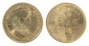 De peso'smuntstuk van Colombia Royalty-vrije Stock Afbeeldingen
