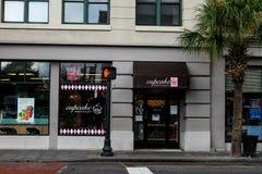 De petits gâteaux sud vers le bas, le Roi Street, Charleston, Sc Image stock