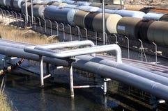 De petrochemische industrie stock afbeelding
