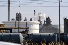 De petrochemische industrie stock foto's