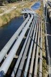 De petrochemische industrie stock foto
