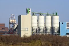De petrochemische industrie royalty-vrije stock foto