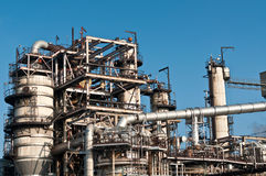 De petrochemische Installatie van de Raffinaderij Stock Foto's