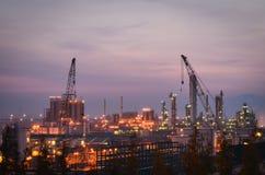 De petrochemische installaties van de bouw Stock Foto's