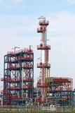 De petrochemische streek van de installatieindustrie Stock Foto