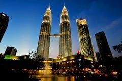 De Petronas tornen Fotografering för Bildbyråer
