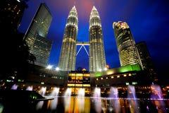 De Petronas tvillingbröderna Arkivbilder