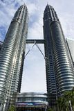 De Petronas TweelingTorens Kuala Lumpur, Maleisië Royalty-vrije Stock Afbeelding