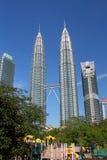De Petronastorens, die ook als Menara Petronas worden bekend is de langste gebouwen in de wereld vanaf 1998 tot 2004 Royalty-vrije Stock Fotografie