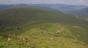 De Petros e de Hoverla para estalar Ivan no cume montenegrino fotos de stock royalty free