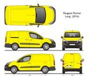 De Peugeot d'associé professionnel 2016 de cargaison longtemps Van Photos libres de droits