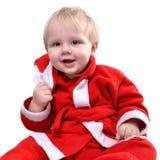 De peuterjongen van de kerstman Stock Foto's