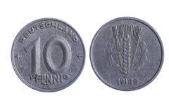 De pfenning muntstukken van Deutschland royalty-vrije stock foto's