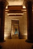 De Philae tempel, Egypte stock foto's