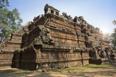 De Phimeanekastempel of Vimeanakas in Angkor zijn een Hindoese die tempel in de Khleang-stijl, aan het eind van de 10de eeuw, Sie Royalty-vrije Stock Foto