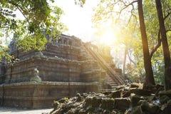 De Phimeanekastempel of Vimeanakas in Angkor zijn een Hindoese die tempel in de Khleang-stijl, aan het eind van de 10de eeuw, Sie Stock Afbeelding