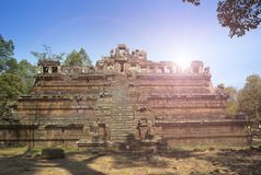 De Phimeanekastempel of Vimeanakas in Angkor zijn een Hindoese die tempel in de Khleang-stijl, aan het eind van de 10de eeuw, Sie Stock Afbeeldingen