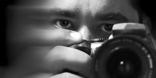 De photographerhefotograaf Royalty-vrije Stock Afbeeldingen
