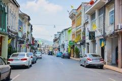 De Phuketstraat van de binnenstad Stock Foto