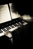 De pianist Stock Foto's