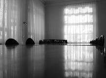 De piano in een ruimte. Royalty-vrije Stock Foto