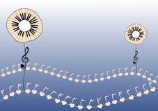 De piano sluit Bloemen vector illustratie