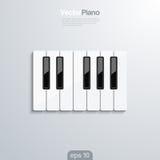 De piano sluit 3d vectorilllustraion. Stock Afbeeldingen